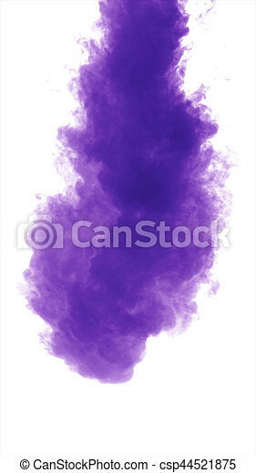 dense, fond, pourpre, isolé, fumée, blanc - csp44521875