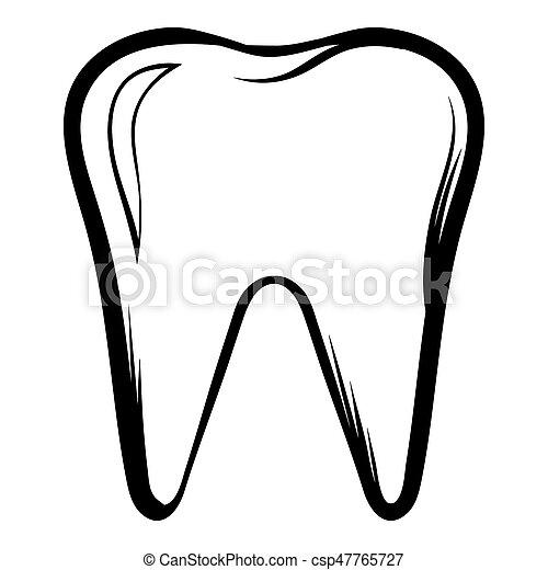 Style isol illustration dent dessin anim ic ne - Dessin de dent ...