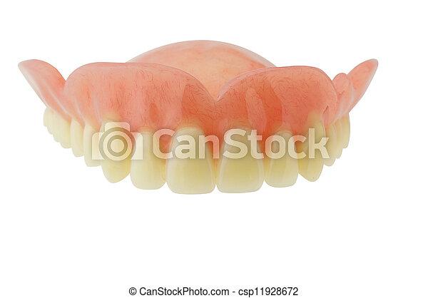 Dentadura con recortes en fondo blanco - csp11928672