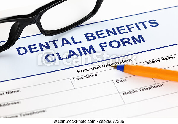 Dental benefits claim form - csp26877386