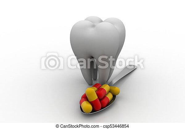 Dental care concept - csp53446854