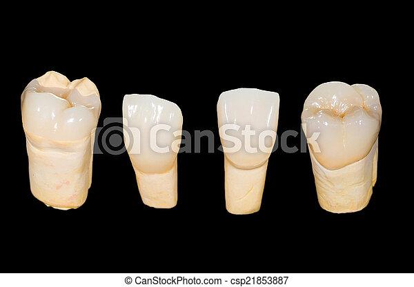 Coronas de cerámica dental - csp21853887