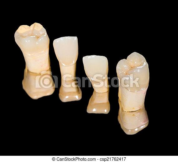 Dental ceramic crowns - csp21762417