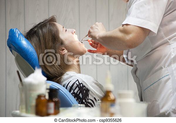 Dental checkup - csp9355626