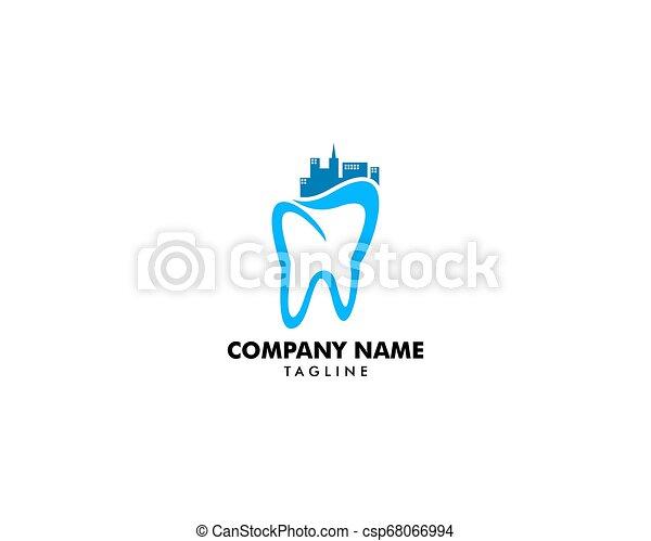 Dental City Logo Design Template Inspiration