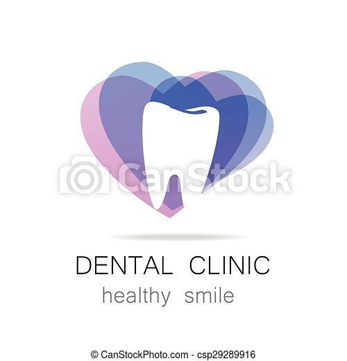dental clinic healthy smile logo template - csp29289916