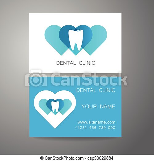 dental clinic logo business card template csp30029884