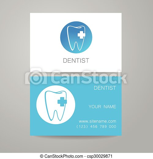Dental clinic logo business card template dental clinic template dental clinic logo business card template csp30029871 reheart Gallery