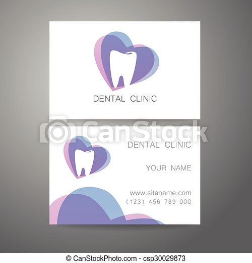 Dental clinic logo business card template dental clinic dental clinic logo business card template vector reheart Gallery