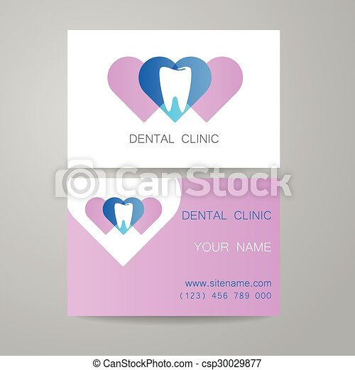 Dental clinic logo business card template dental clinic template dental clinic logo business card template csp30029877 reheart Gallery