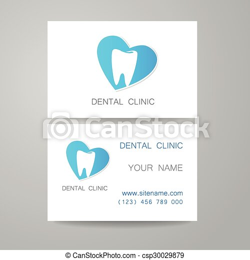 Dental clinic logo business card template dental clinic vectors dental clinic logo business card template csp30029879 reheart Gallery