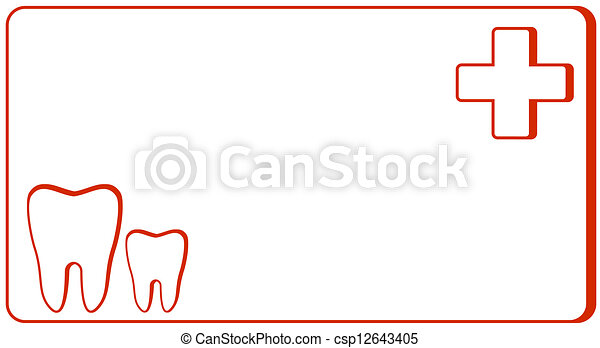 Dental clinic visiting card symbol dental clinic red dental clinic visiting card stock illustration reheart Image collections