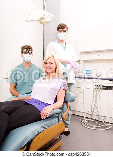 Dental Clinic with Patient - csp4263551