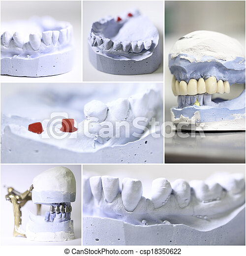dental dentist objects collage - csp18350622