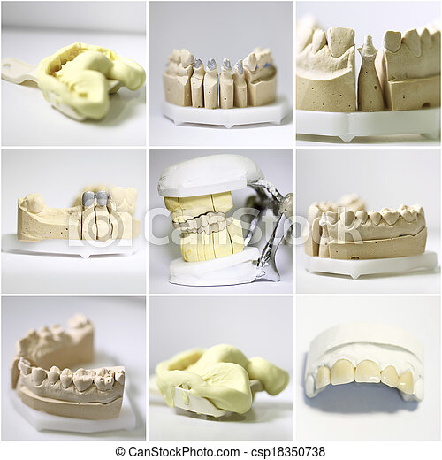dental dentist objects collage - csp18350738