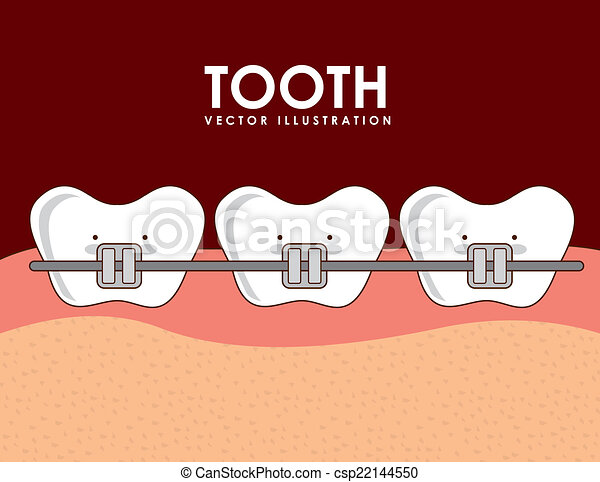 dental, desenho - csp22144550