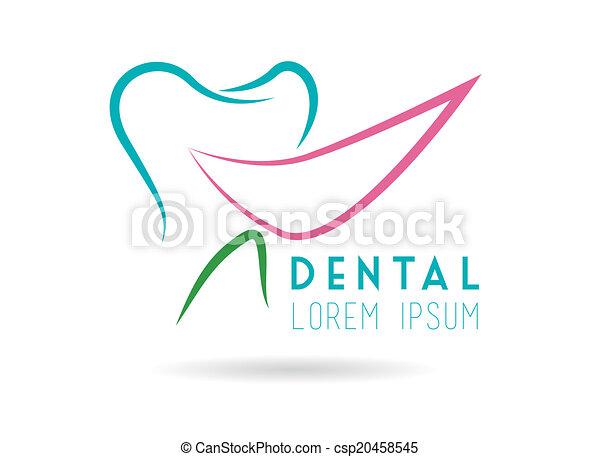 dental, desenho - csp20458545