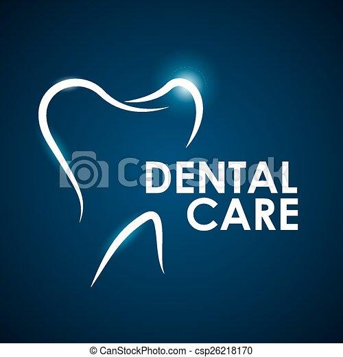 Diseño dental, ilustración de vectores. - csp26218170