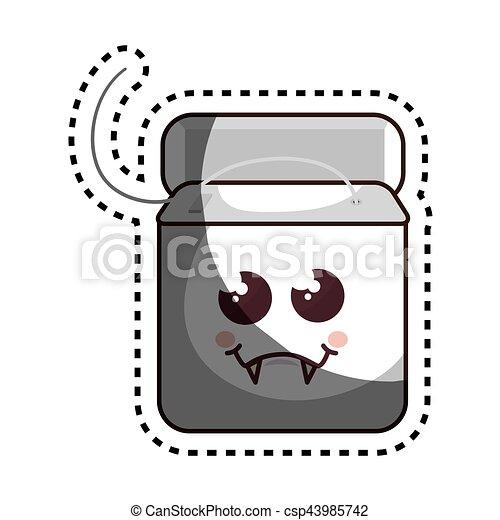 Dental Floss Character Icon Vector