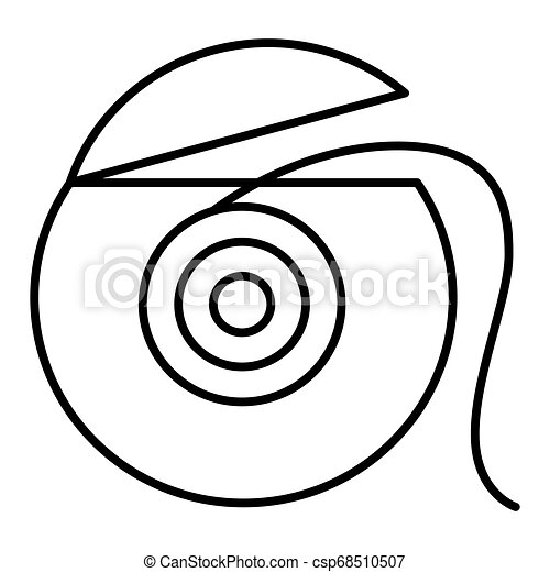 Dental floss icon in outline style isolated vector . eps 10 - csp68510507