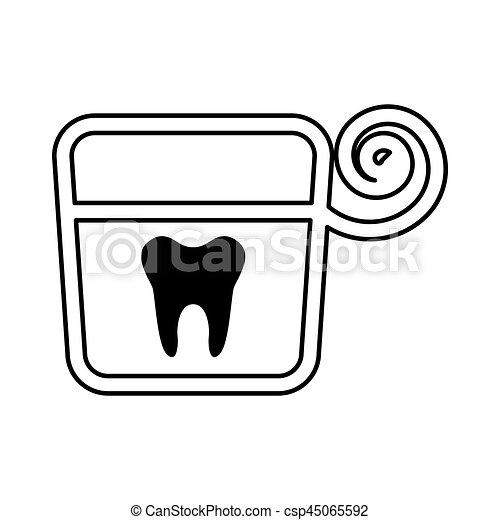 Dental Floss Isolated Icon Vector