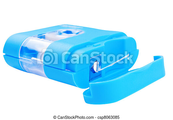 Dental floss on a white background - csp8063085