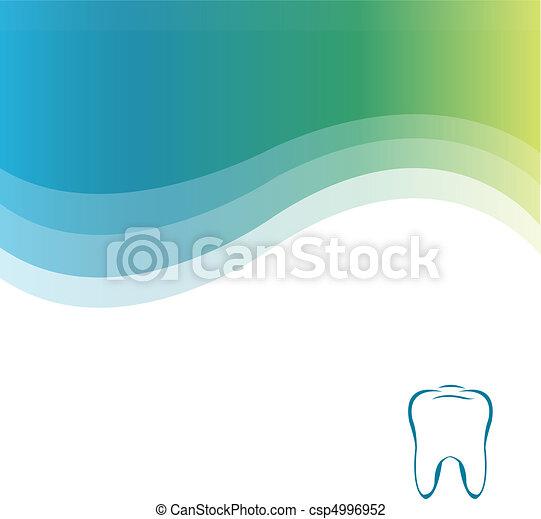 Un fondo verde dental - csp4996952