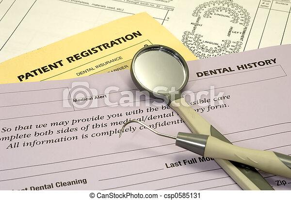 Dental Forms - csp0585131