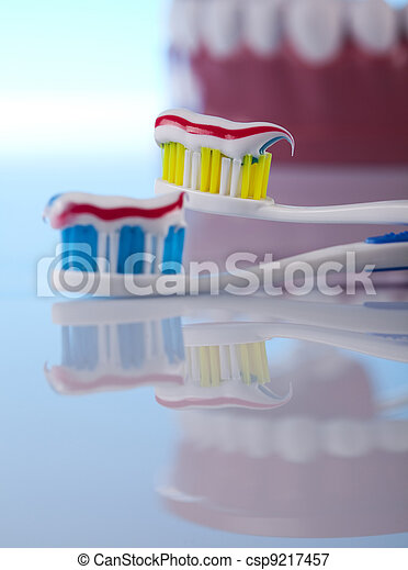 Dental health care objects  - csp9217457