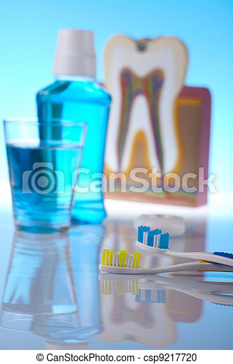 Dental health care objects  - csp9217720