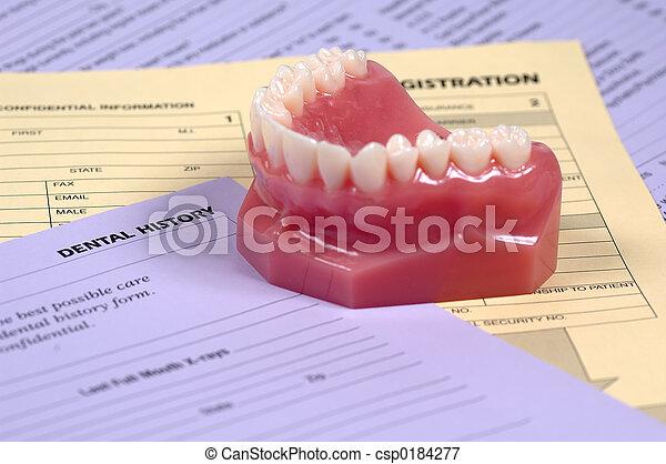 Dental History - csp0184277