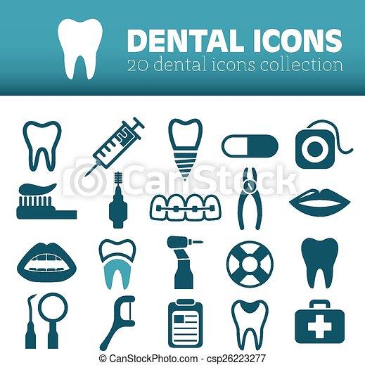 iconos dentales - csp26223277