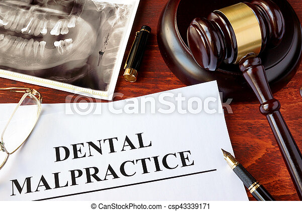Dental Malpractice form - csp43339171