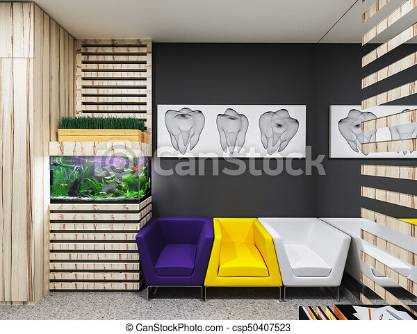 Dental Office Waiting Room Reception In Dental Clinic Design In A