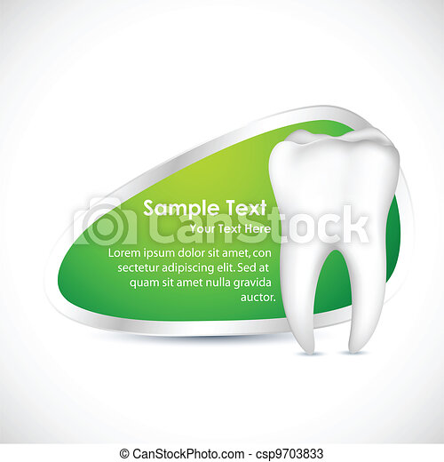 dental, plantilla - csp9703833