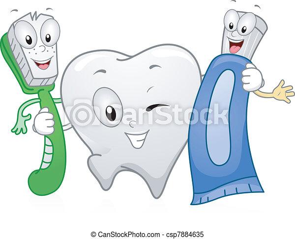 dental, produkte - csp7884635