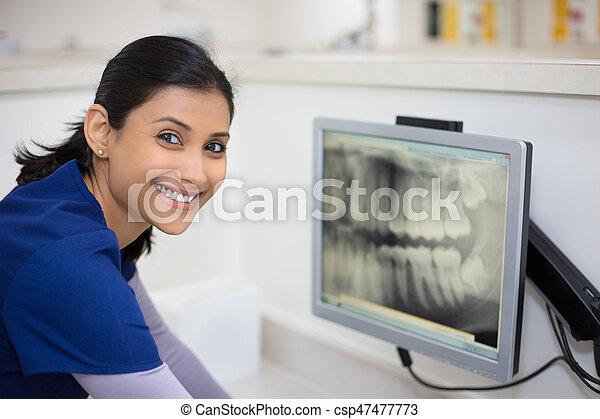 Dental radiograph examination - csp47477773