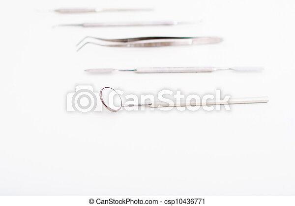 dental, sätta, redskapen - csp10436771