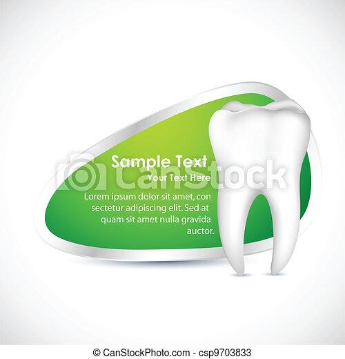 dental, schablone - csp9703833