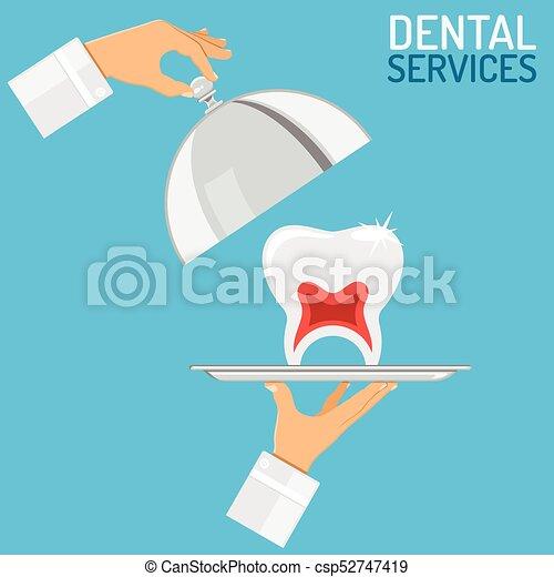 Dental Services concept - csp52747419