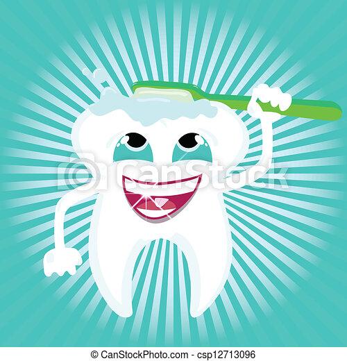 dental sundhed, omsorg, tand - csp12713096