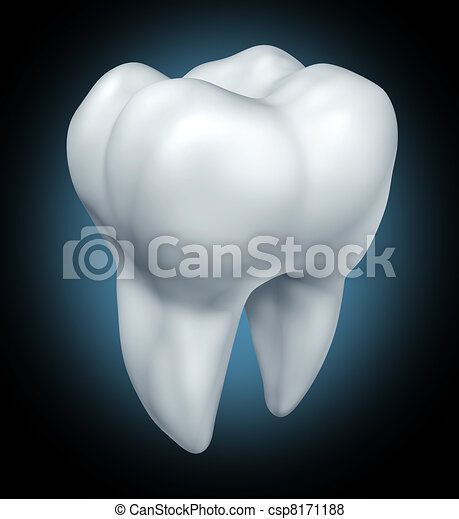 Dental tooth health symbol - csp8171188