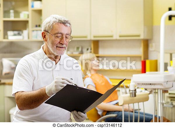 Dental visit - csp13146112