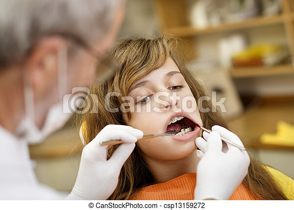 Dental visit - csp13159272