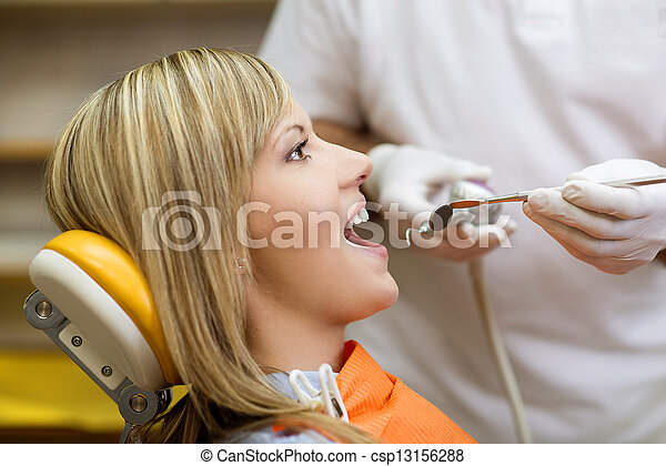 Dental visit - csp13156288