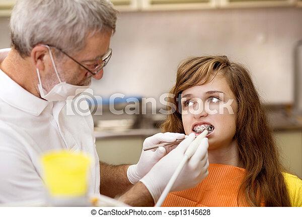 Dental visit - csp13145628