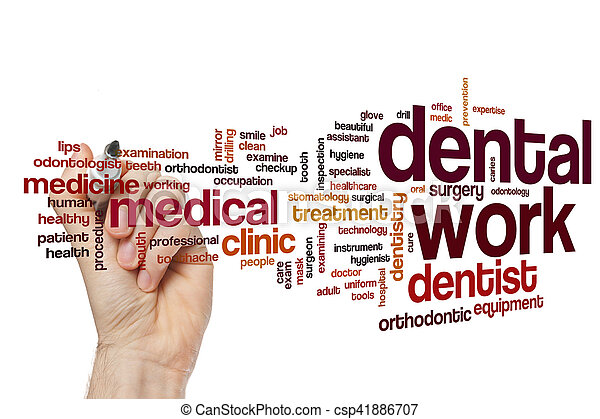 dental work word cloud concept