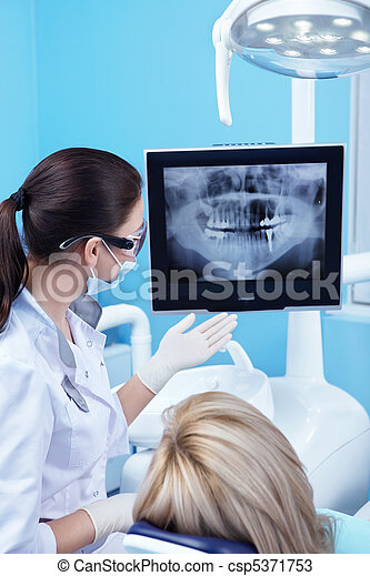 Dental X-ray of the patient - csp5371753