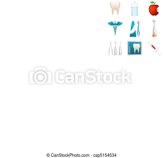 dentale, icone - csp5154534