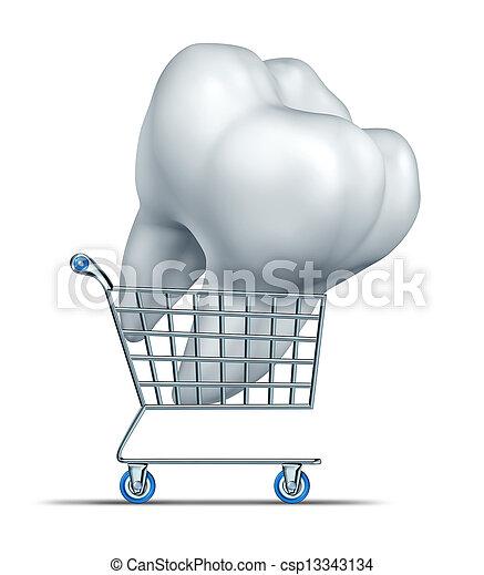 dentale, shopping, assicurazione - csp13343134